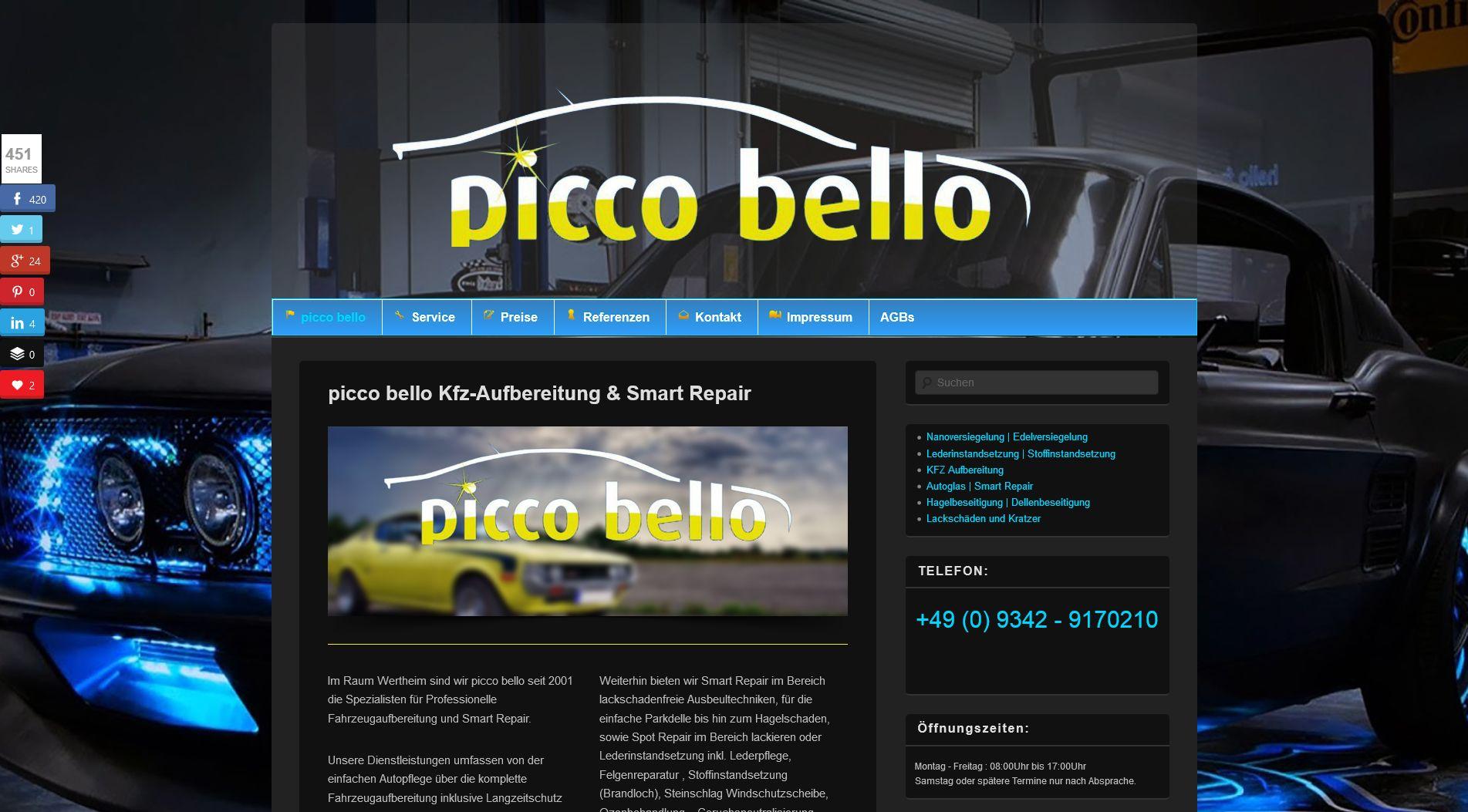 Piccobello |Webdesign