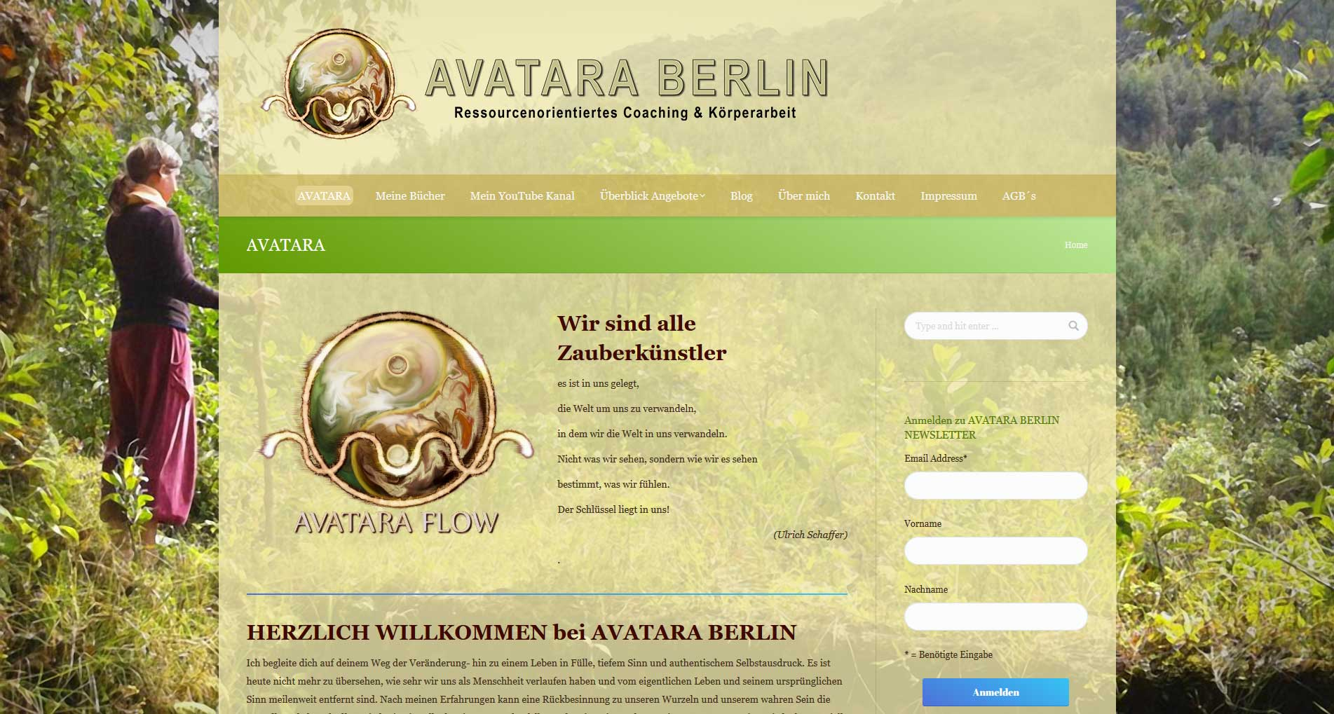 Avatara Berlin | Webdesign