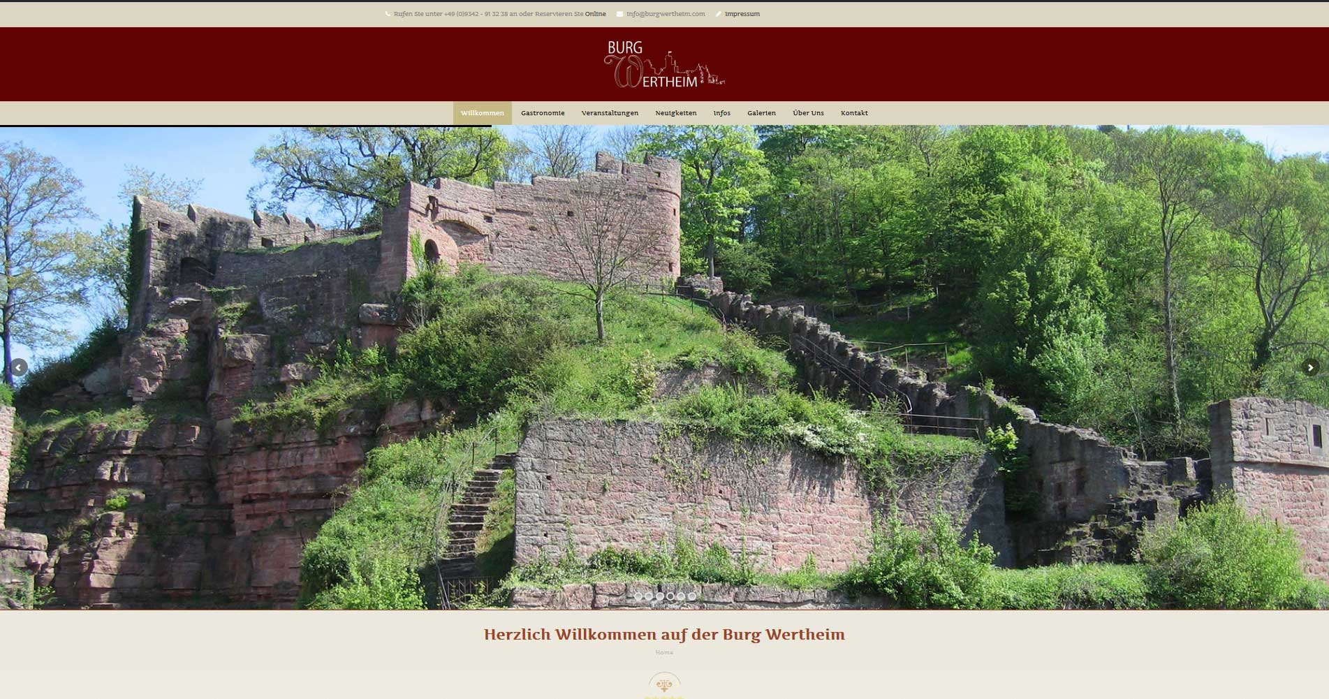 Burg Wertheim Webdesign